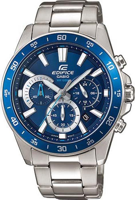 Часы наручные мужские Casio Edifice, цвет: синий, стальной. EFV-570D-2AVUEF мужские часы casio efv 570d 1a