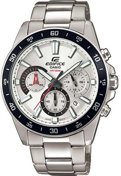 Часы наручные мужские Casio Edifice, цвет: белый, стальной. EFV-570D-7AVUEF мужские часы casio efv 570d 1a