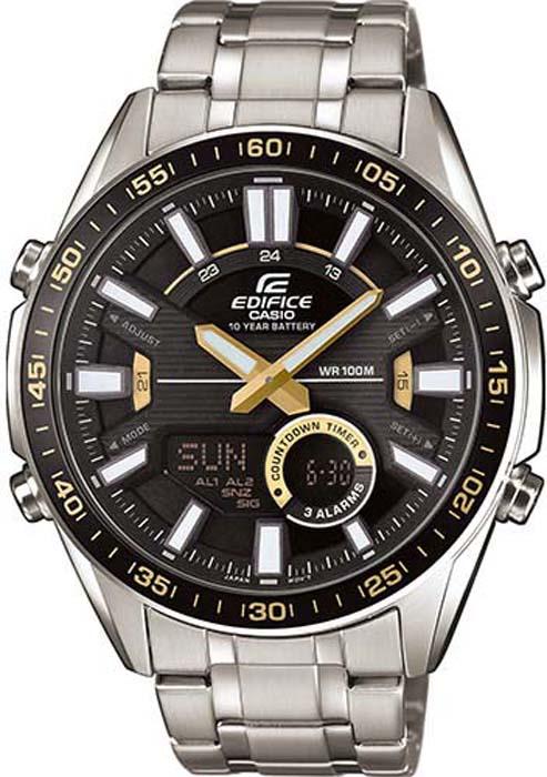 Часы наручные мужские Casio Edifice, цвет: черный. EFV-C100D-1BVEF casio efv 540d 1a9