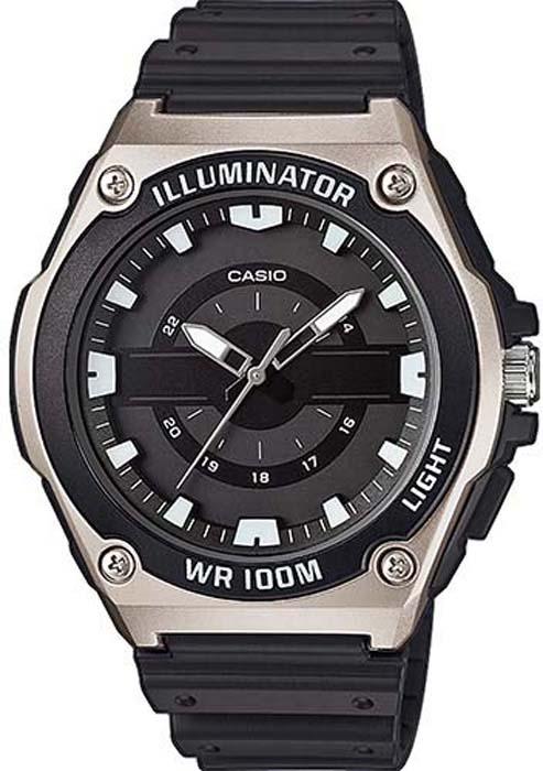 Часы наручные мужские Casio Collection, цвет: черный, серый. MWC-100H-1AVEF все цены