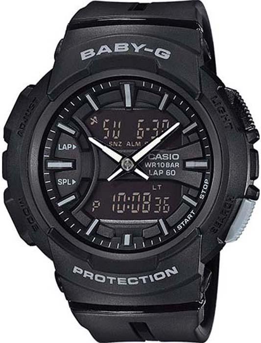 Часы наручные женские Casio Baby-G, цвет: черный, серый. BGA-240BC-1A все цены