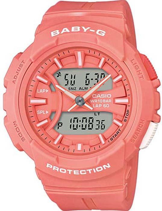 Часы наручные женские Casio Baby-G, цвет: коралловый. BGA-240BC-4A
