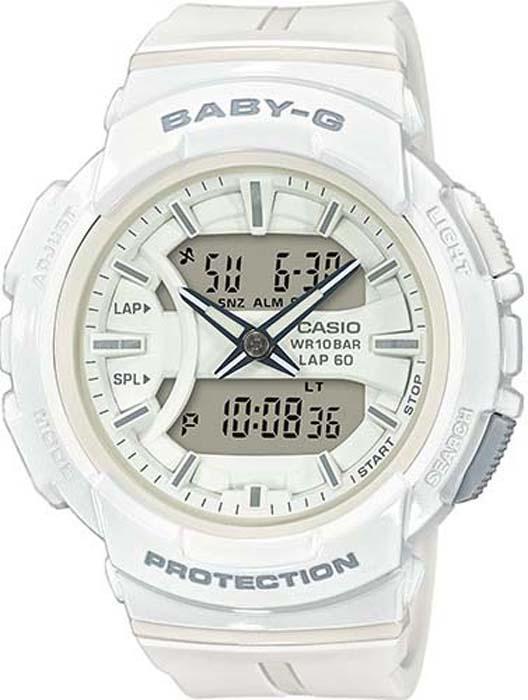 Часы наручные женские Casio Baby-G, цвет: белый. BGA-240BC-7A все цены
