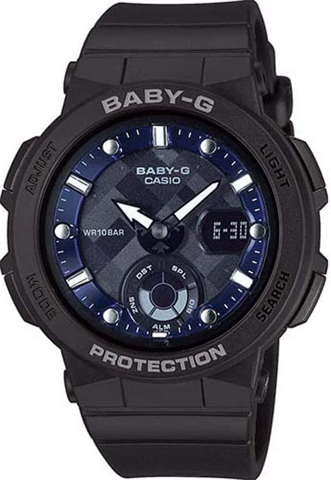 Часы наручные женские Casio Baby-G, цвет: черный, синий. BGA-250-1A все цены