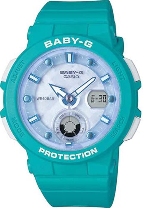 Часы наручные женские Casio Baby-G, цвет: бирюзовый. BGA-250-2A все цены
