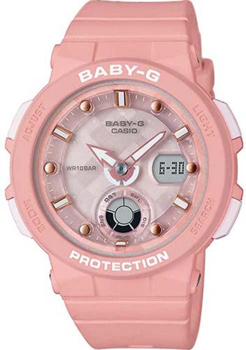 Часы наручные женские Casio Baby-G, цвет: коралловый. BGA-250-4A все цены