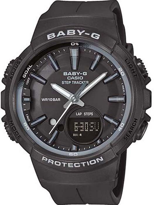 Часы наручные женские Casio Baby-G, цвет: черный, серый. BGS-100SC-1A