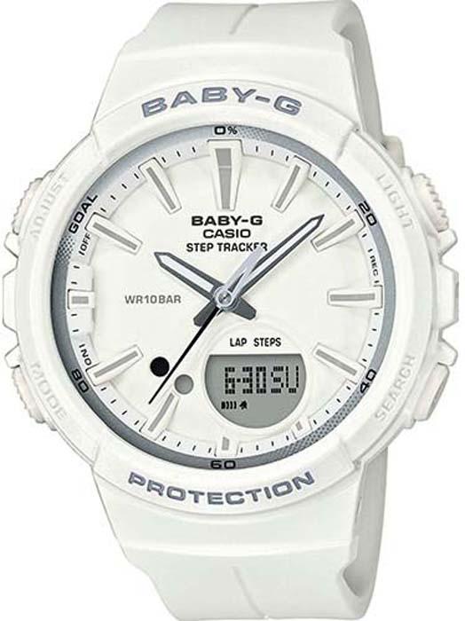 Часы наручные женские Casio Baby-G, цвет: белый, серый. BGS-100SC-7A
