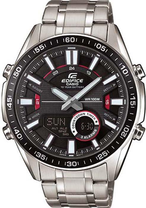 лучшая цена Часы наручные мужские Casio Edifice, цвет: черный. EFV-C100D-1A