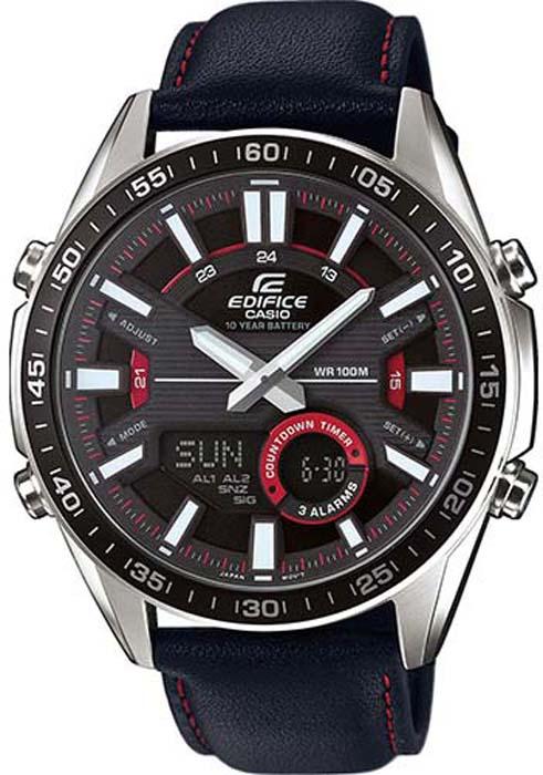 Часы наручные мужские Casio Edifice, цвет: черный. EFV-C100L-1A мужские часы casio efv 570d 1a