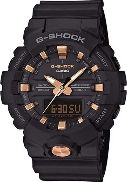 Часы наручные мужские Casio G-Shock, цвет: черный, розово-золотой. GA-810B-1A4 электронные часы casio g shock ga 400gb 1a4 black