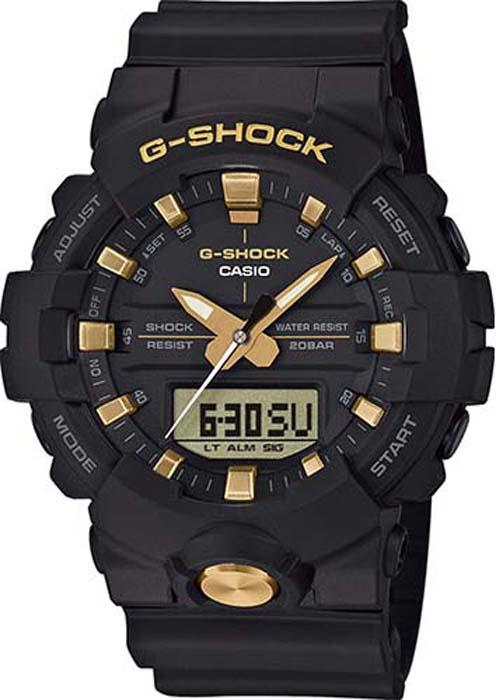 купить Часы наручные мужские Casio G-Shock, цвет: черный, золотой. GA-810B-1A9 по цене 11440 рублей