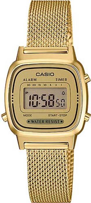 Часы наручные женские Casio Collection, цвет: золотой. LA670WEMY-9E все цены