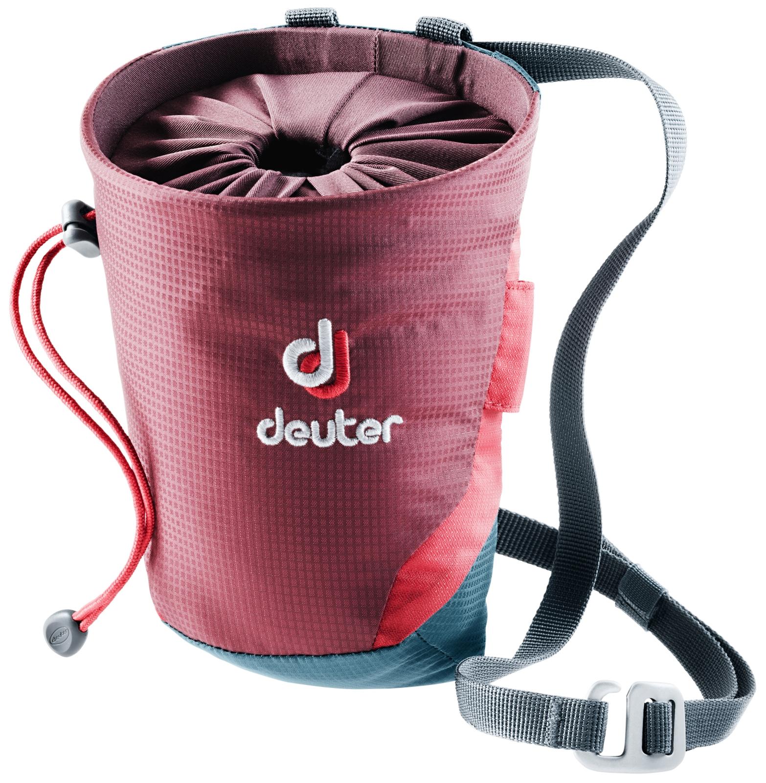 Мешок для магнезии Deuter Gravity Chalk Bag II M, цвет: бордовый