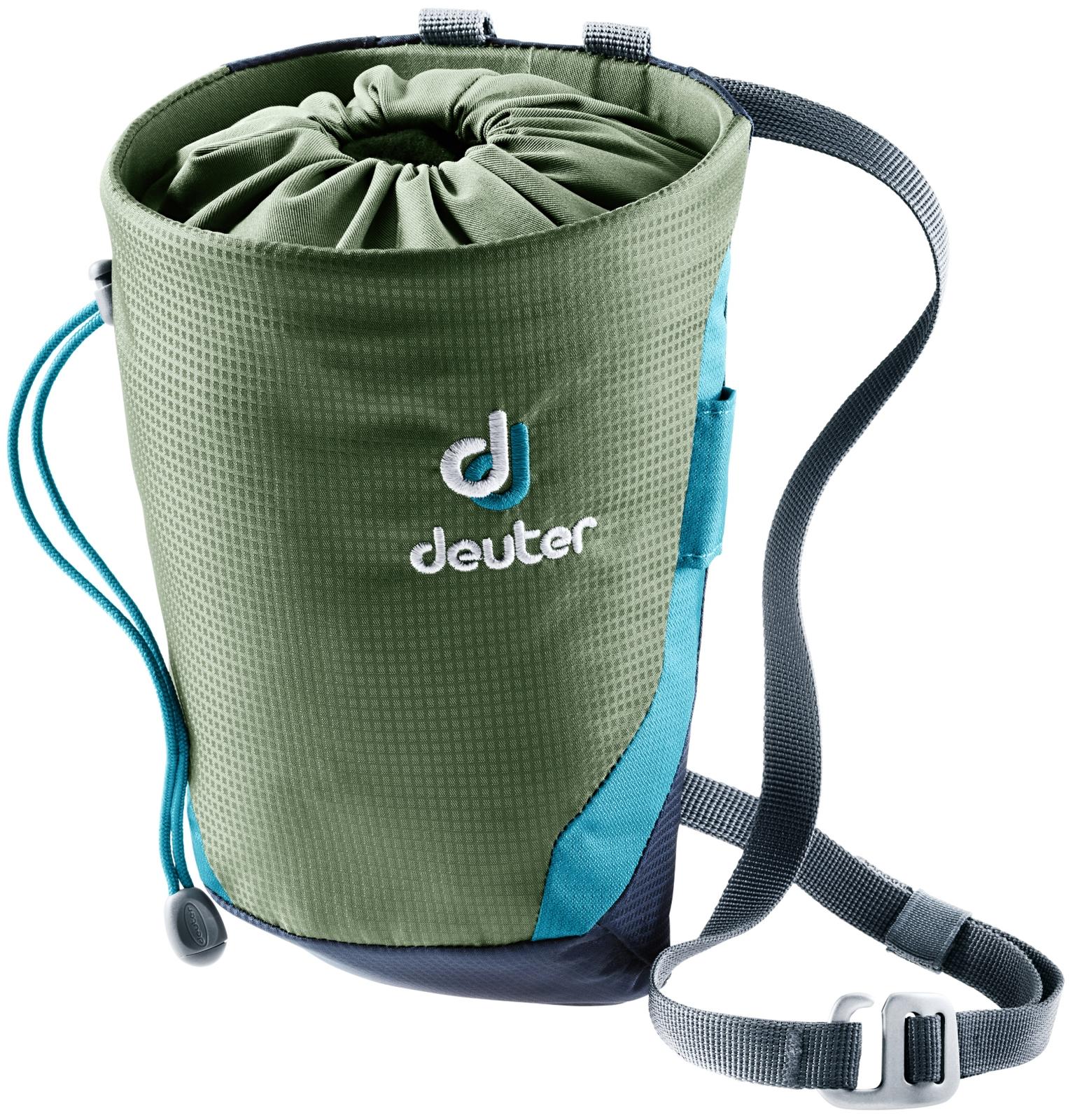 Мешок для магнезии Deuter Gravity Chalk Bag II L, цвет: темно-синий, оливковый