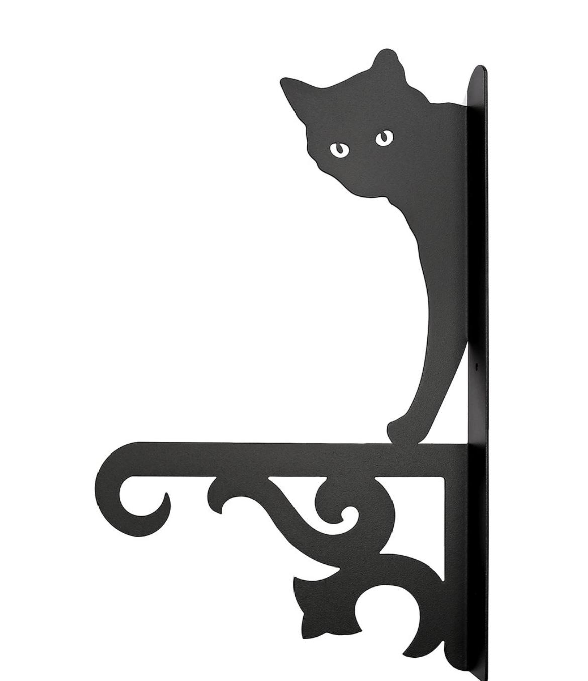 Кронштейн для кашпо WOODHORSE Кронштейн для кашпо и фонаря «Кот» , 10009, черный green garden кашпо teak s