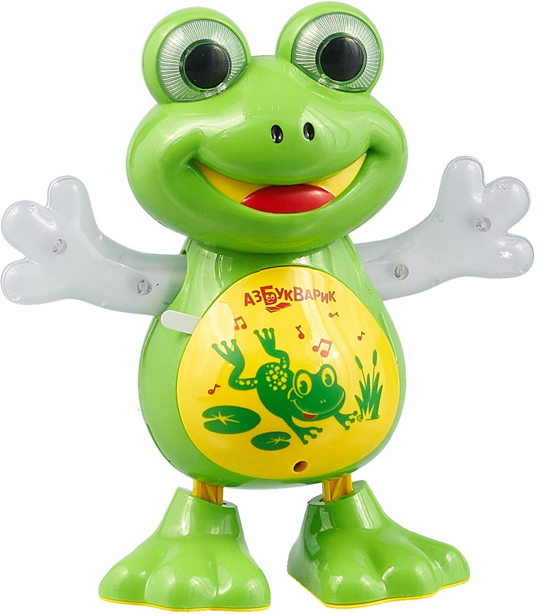 Музыкальная игрушка Азбукварик Танцующая лягушка барыня сударыня книжка игрушка