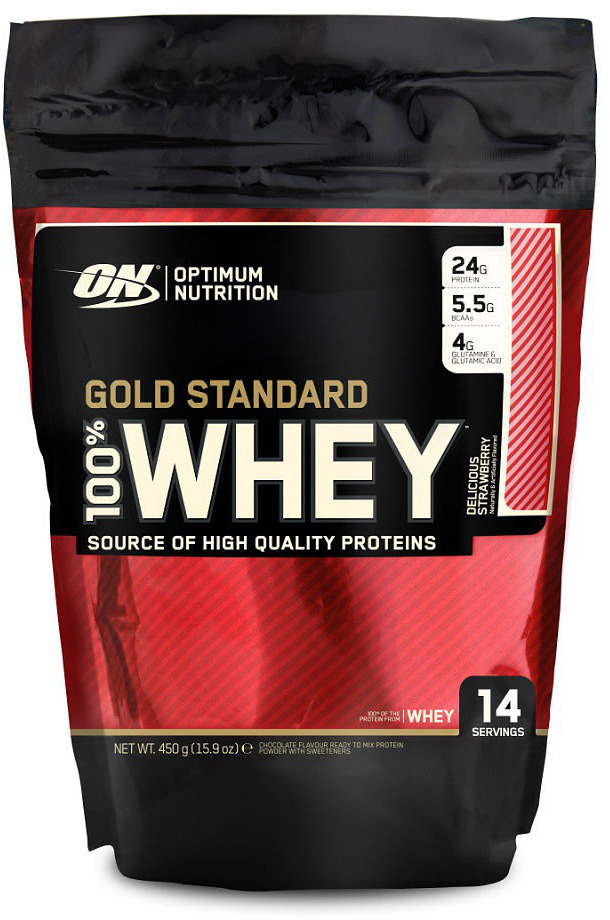 цена на Протеин Optimum Nutrition 100% Whey Gold Standard Delicious Strawberry, 450 г