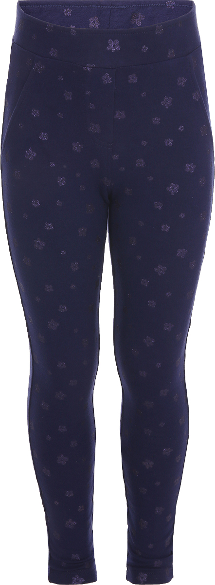 Брюки для девочки Sela, цвет: космический синий. Pk-515/536-8331. Размер 92Pk-515/536-8331