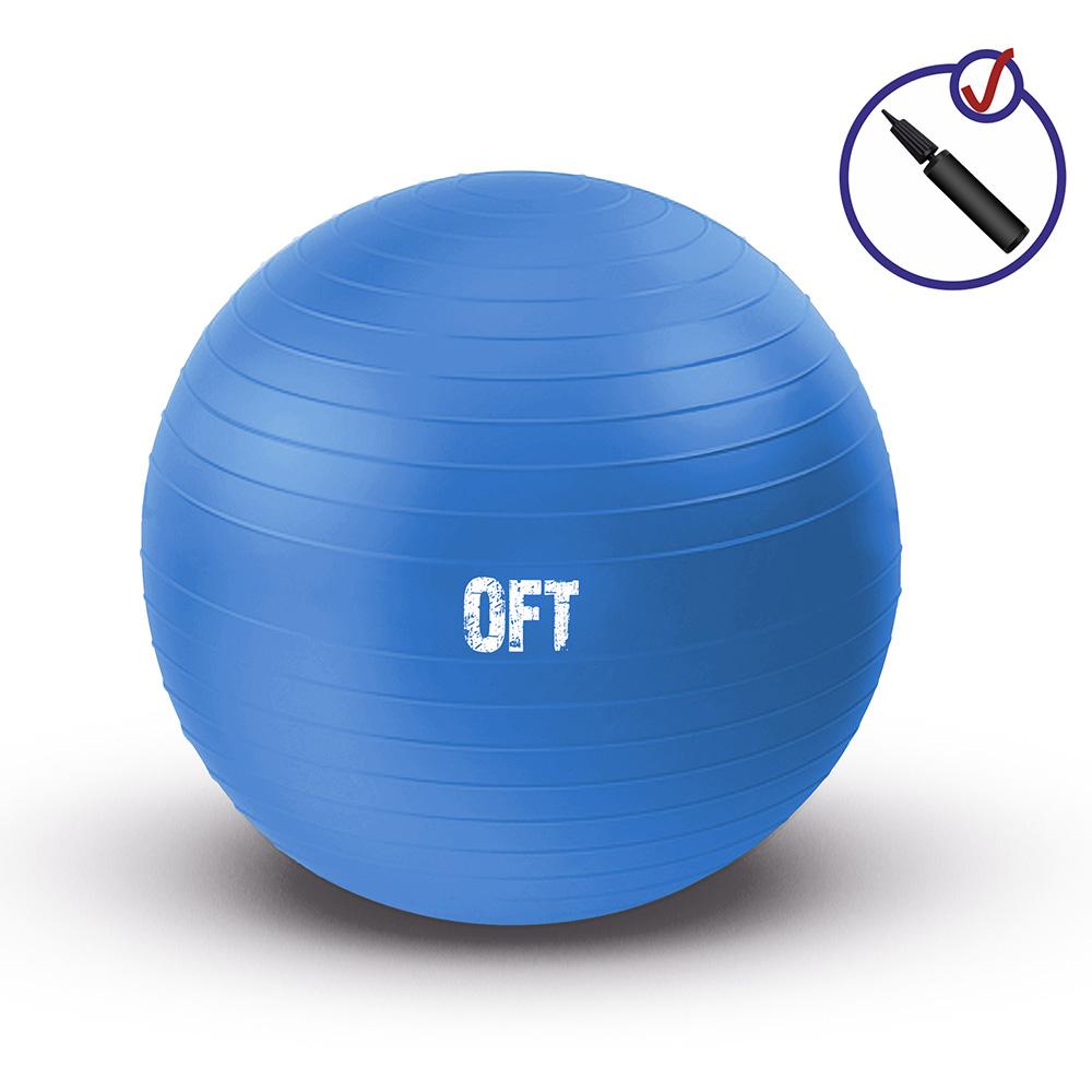 Гимнастический мяч 75 см синий deweyke массаж мяч фасция мяч глубокие мышцы расслабляющий мяч клуб иглоукалывание массаж фитнес мяч зеленый