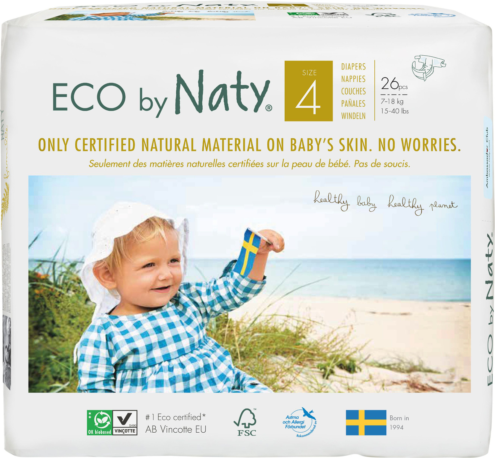 Подгузники Naty 7-18 кг (размер 4), 26 шт цена 2017