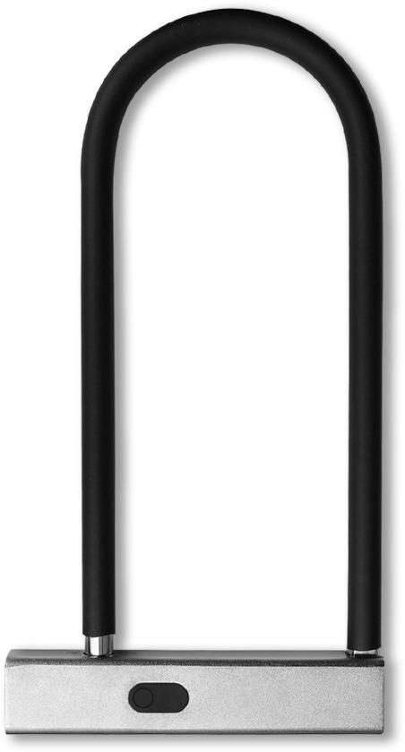 Электрозамок велосипедный GLS U-lock Bt, цвет: серый, серебристый