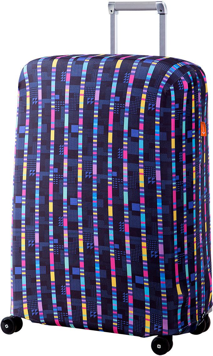 Чехол для чемодана Routemark Стробоскоп, цвет: мультиколор чехол для чемодана routemark ромбик в красном цвет красный