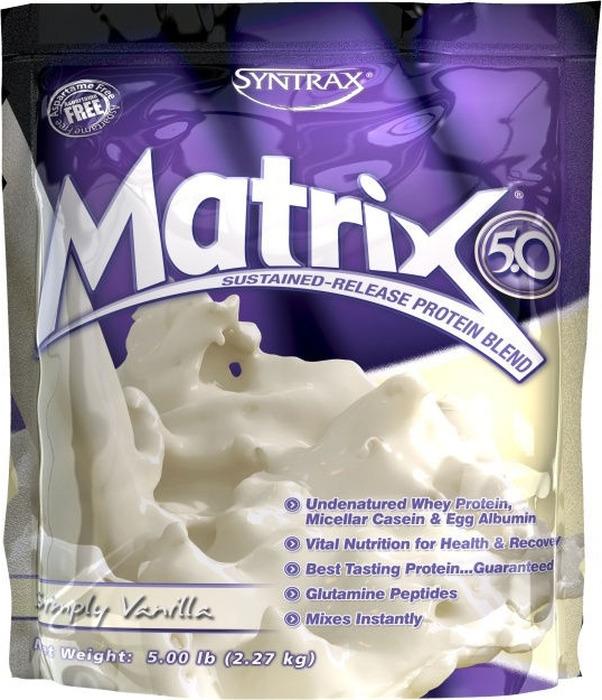 Протеин Syntrax Matrix 5.0 Simply Vanilla, 2,27 кг893912123543Для достижения наилучших результатов в Syntrax Matrix используется исключительно неденатурированный протеин высочайшего качества, такой как ультрафильтрованный сывороточный протеин, ультрафильтрованный молочный протеин, неденатурированный яичный белок, а также глютаминовые пептиды. Цена выше, но качество и результат заметны моментально. Syntrax Matrix обладает отличным вкусом, улучшает здоровье организма в целом, положительно влияет на рост тканей и восстановительные процессы.Ультрафильтрованный и неденатурированный концентрат сывороточного протеина, ультрафильтрованный и неденатурированный концентрат молочного протеина (включая мицеллярный казеин), неденатурированный яичный белок, гидролизованная пшеничная клейковина.