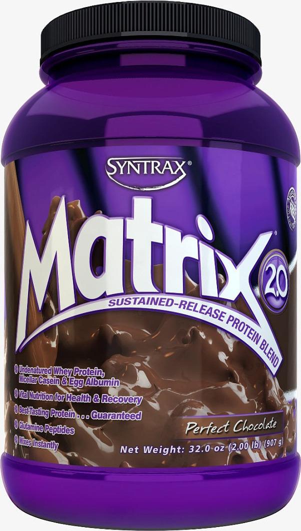 Протеин Syntrax Matrix 2.0 Perfect Chocolate893912124052Для достижения наилучших результатов в Syntrax Matrix используется исключительно неденатурированный протеин высочайшего качества, такой как ультрафильтрованный сывороточный протеин, ультрафильтрованный молочный протеин, неденатурированный яичный белок, а также глютаминовые пептиды. Цена выше, но качество и результат заметны моментально. Syntrax Matrix обладает отличным вкусом, улучшает здоровье организма в целом, положительно влияет на рост тканей и восстановительные процессы.Ультрафильтрованный и неденатурированный концентрат сывороточного протеина, ультрафильтрованный и неденатурированный концентрат молочного протеина (включая мицеллярный казеин), неденатурированный яичный белок, гидролизованная пшеничная клейковина.