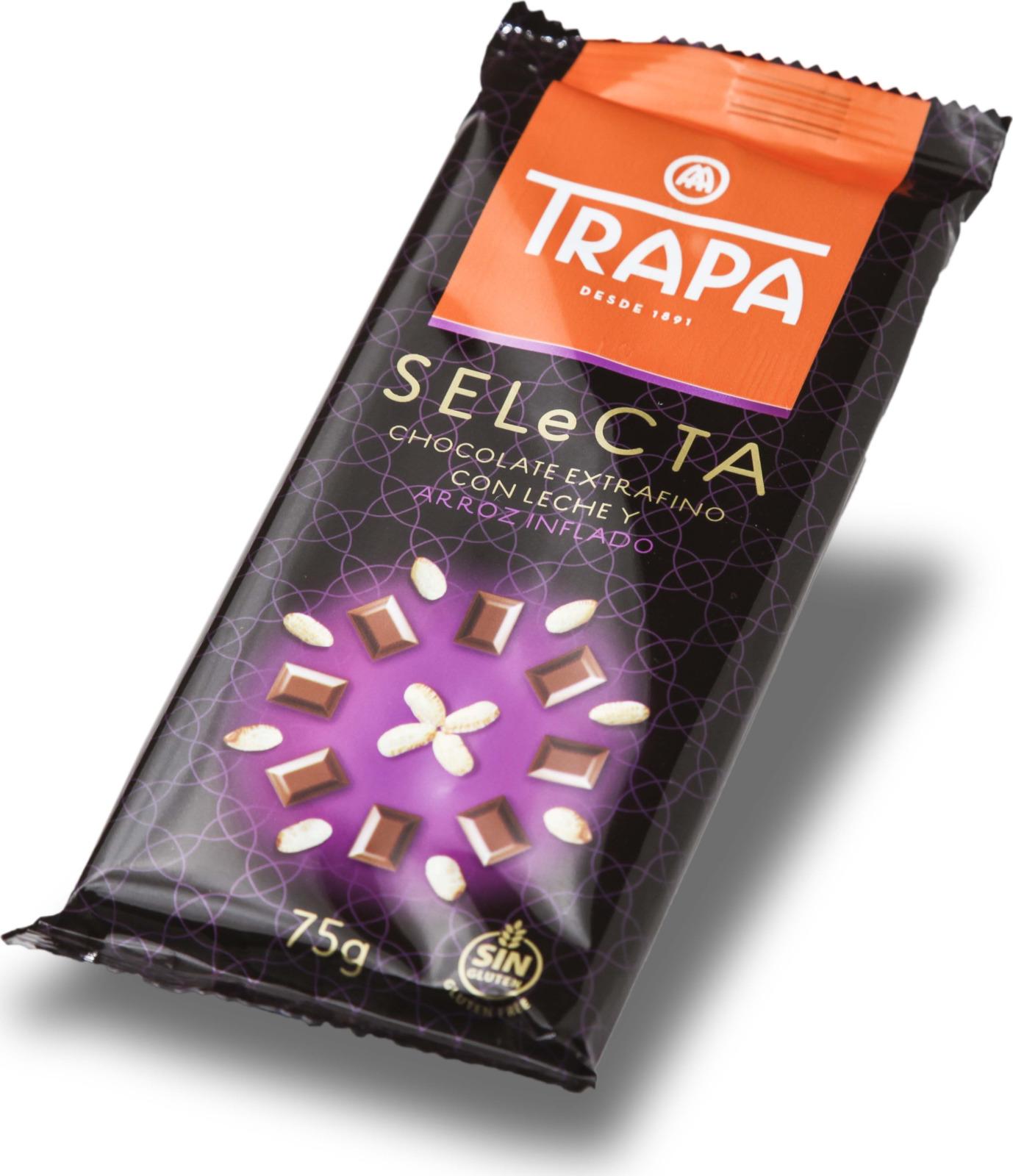 цена Молочный шоколад Trapa Selecta Bar, с воздушным рисом, 75 г онлайн в 2017 году