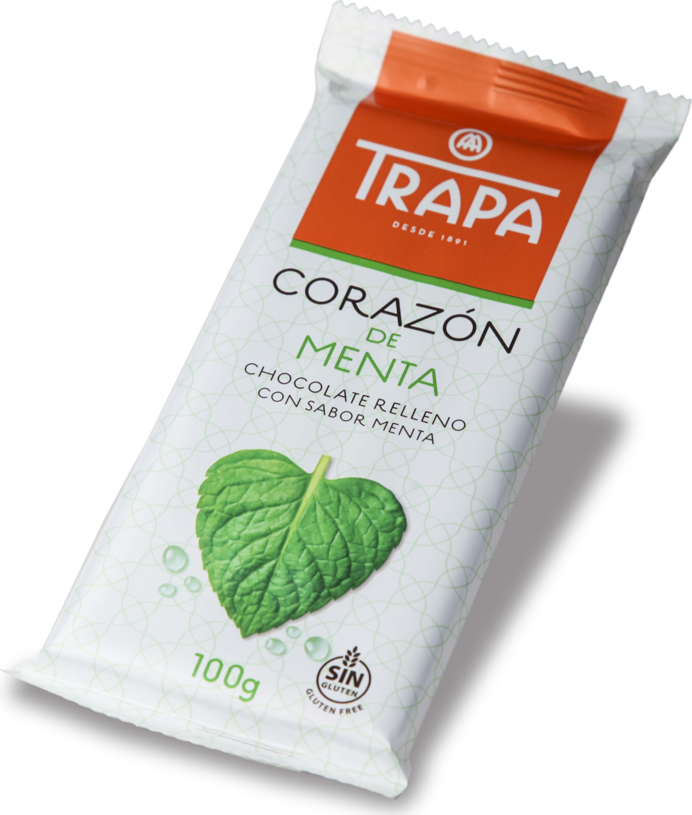 Молочный шоколад Trapa Corazоn Bar, с мятной начинкой, 100 г молочный шоколад trapa corazоn bar с апельсиновой начинкой 100 г