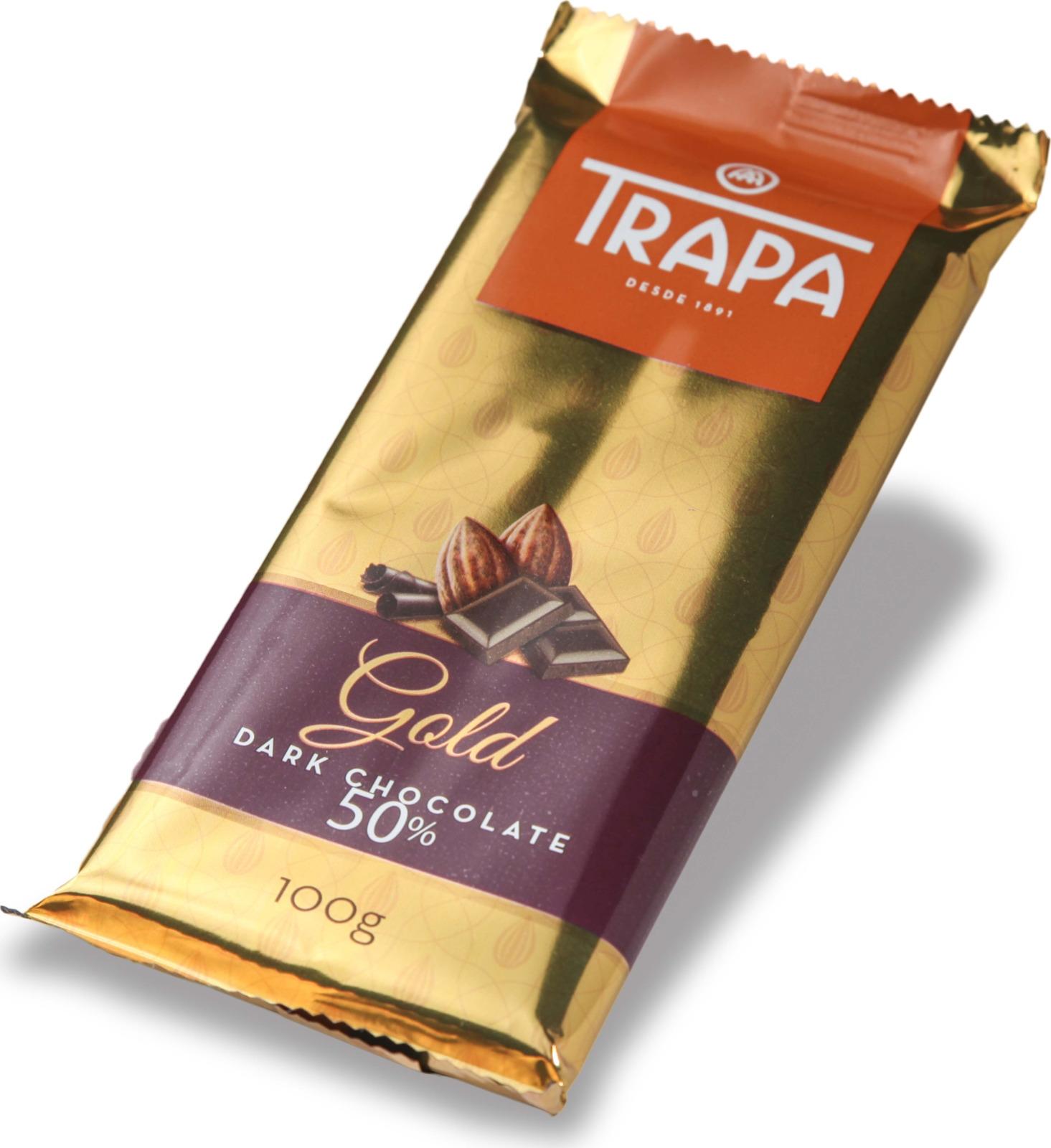 Темный шоколад Trapa Gold Bar, 50%, 100 г цены