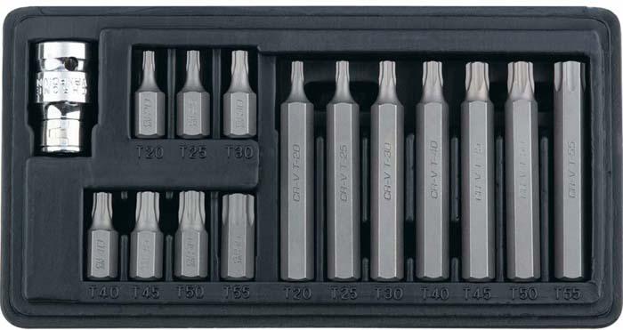 Набор бит Stels TORX, хвостовик-шестигранник, 10 мм, 15 предметов набор бит stels spline хвостовик шестигранник 1 1 2 10 мм 11 предметов