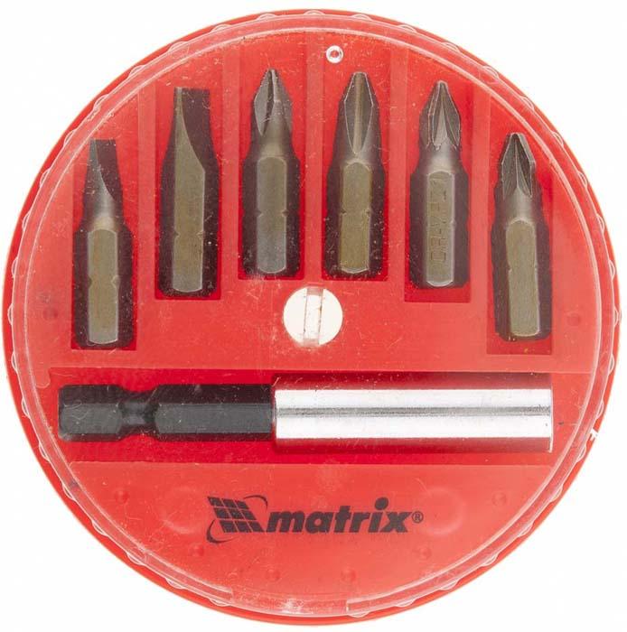 Набор бит Matrix, с магнитным адаптером, сталь 45Х, в пластиковом боксе, 7 предметов набор бит sparta с адаптерами для бит в пластиковом боксе 100 предметов