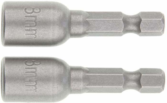 Биты с торцевыми головками Matrix, 8 - 45 мм, 2 шт набор с торцевыми головками force f 4246s 9