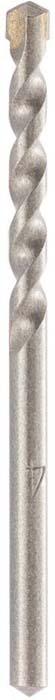 Сверло Барс, по бетону, цилиндрический хвостовик, 4 х 75 мм70524Увеличенная скорость сверления, повышенная прочность и высокая износостойкость достигаются за счет состава, твердости и формы твердосплавного элемента. Пластина фиксируется особо прочным припоем, рассчитанным на высокие рабочие температуры и значительные ударные нагрузки. U–образная форма спирали позволяет эффективно отводить продукты сверления, способствуя меньшему нагреву, что увеличивает производительность и срок службы сверла.