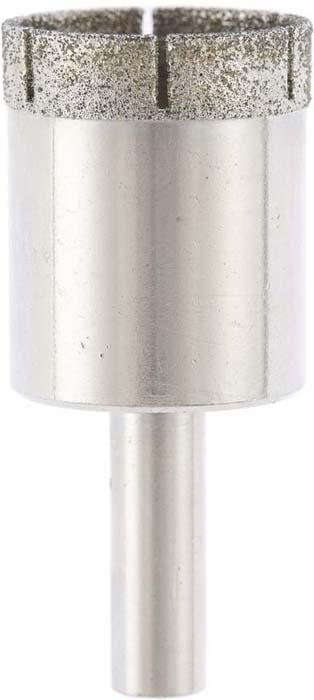 Сверло по стеклу и керамической плитке Сибртех, 32 х 55 мм, цилиндрический хвостовик726327Сверло предназначено для стекла и керамической плитки, обеспечивает точное и чистое отверстие без сколов. Для повышения стойкости сверла, желательно использовать водяное охлаждение.