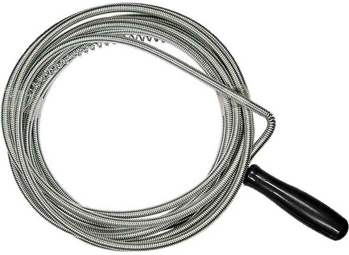 Трос для прочистки труб Сибртех, длина 5 м, диаметр 6 мм трос пружинный для прочистки канализационных труб masterprof 6 мм х 5 м