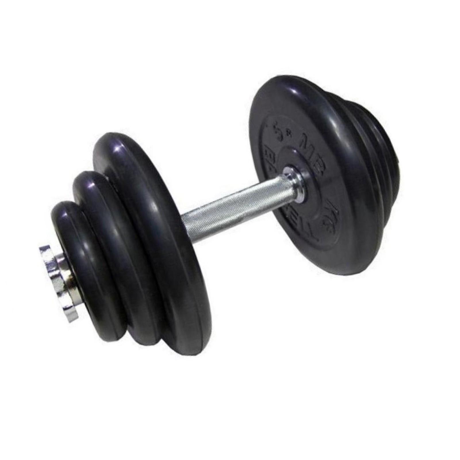 Гантель MB BARBELL Atlet, разборная, хромированный гриф, 20 кг, 1 шт гантели разборные starfit bb 501 в чемодане цвет серый металлик 10 кг 2 шт