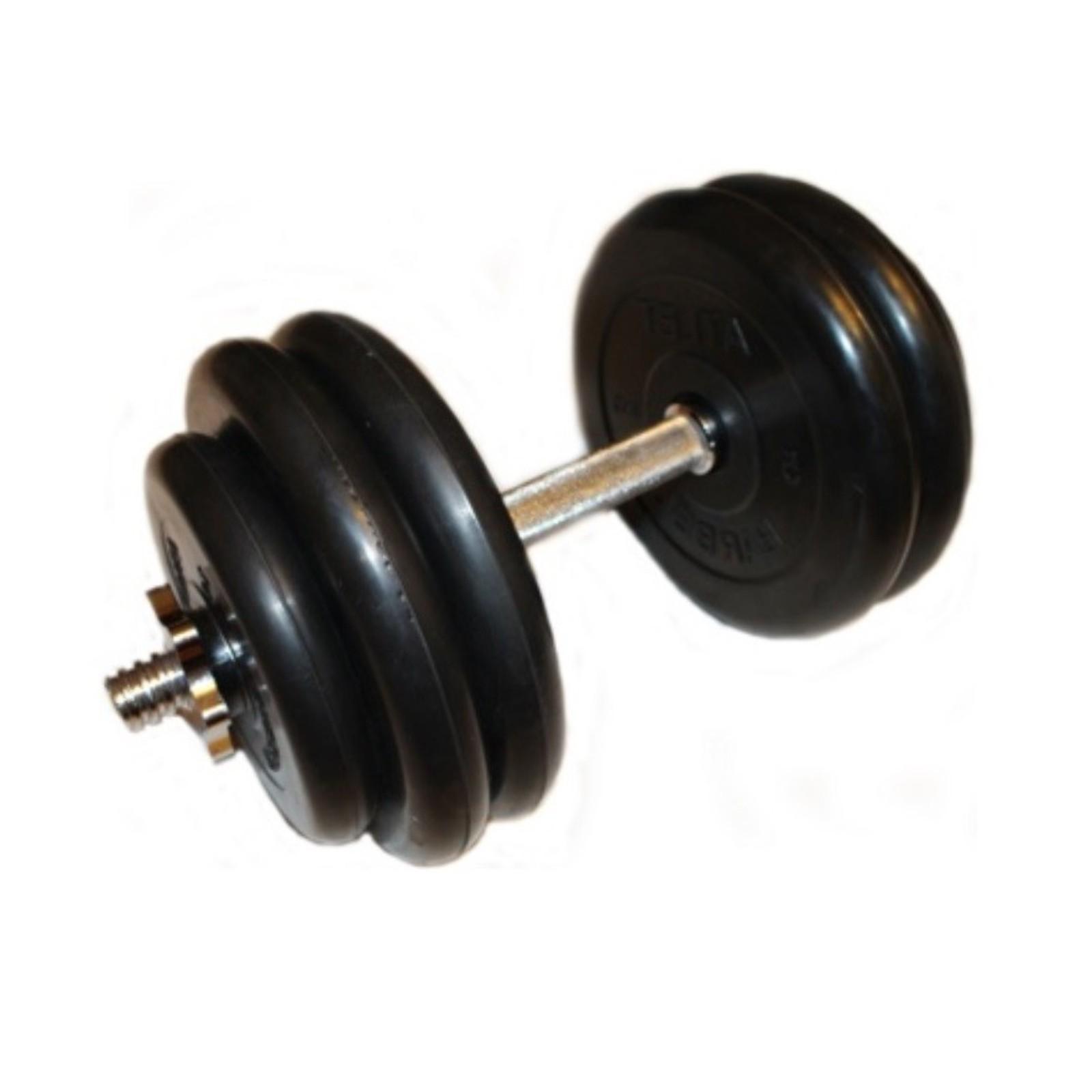 Гантель MB BARBELL Atlet, разборная, хромированный гриф, 27.5 кг, 1 шт ворота м ф 2х3м переносные разборные алюминиевые atlet imp a314 пара