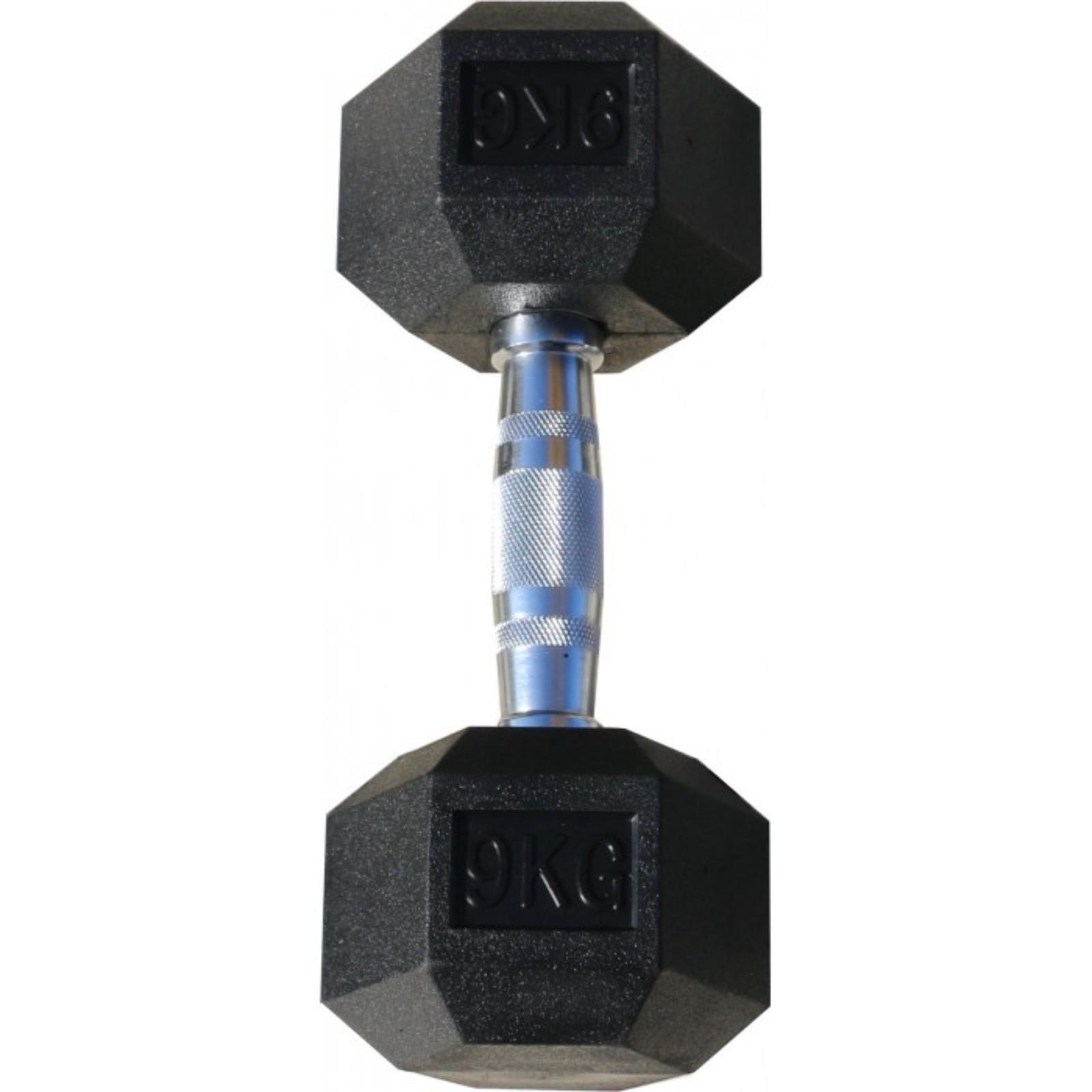 цена на Гантель Body Solid гексагональная обрезиненная, хромированная ручка, 9 кг (Body-Solid)