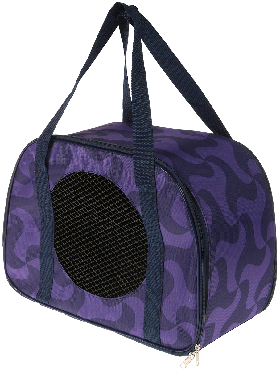 Сумка-переноска для животных Теремок, цвет: фиолетовый, 45 х 22 х 30 см сумка переноска для животных elite valley батискаф с отверстием для головы цвет темно синий черный 37 х 14 х 16 см