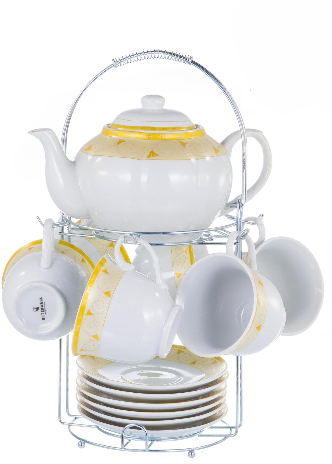 Набор чайный Guterwahl Square Gift Box, цвет: белый, 14 предметов. 114-17015