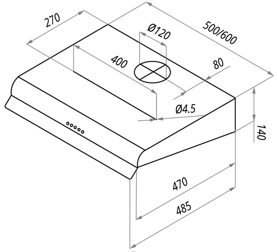 Вытяжка MAUNFELD MP 350-1 (С) INOX, MP 350-1 (С) INOX, серебристый Maunfeld