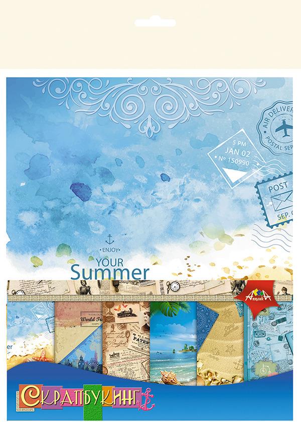 Бумага цветная Апплика Отпуск, 6 листов апплика набор для создания букета розы
