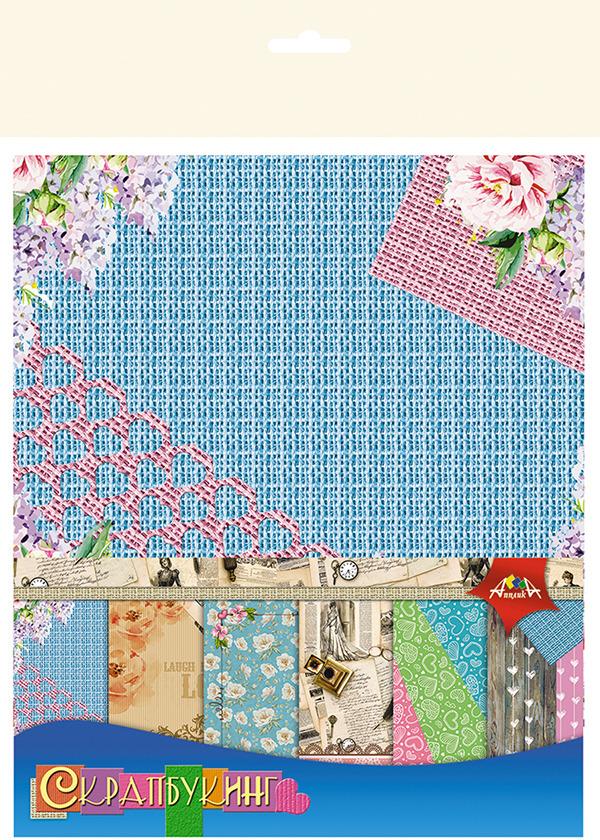 Бумага цветная Апплика Романтика, 6 листов апплика набор для создания букета розы