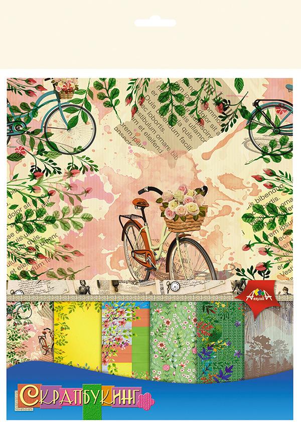 Бумага цветная Апплика Природа, 6 листов апплика набор для создания букета розы