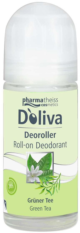 Дезодорант роликовый D'Oliva Зеленый чай, 50 мл350508Роликовый дезодорант DOliva линии «Зеленый чай» создан на основе высокоэффективной формулы, содержащей тосканское оливковое масло первого холодного отжима и экстракт зеленого чая. Такой состав гарантирует бережный уход за кожей и свежесть в течение 24-х часов. Дезодорант DOliva не содержит спирта, препятствует появлению раздражения на коже после удаления волос в подмышечных впадинах и имеет легкий аромат свежести.