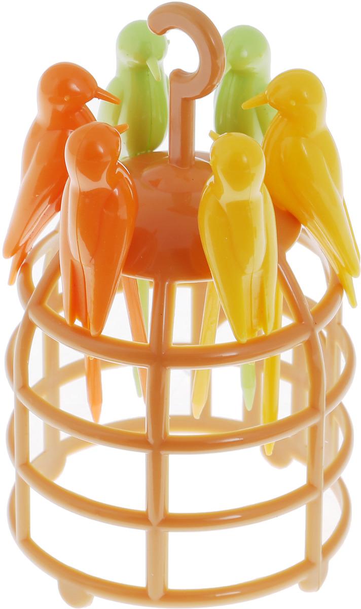 Фото - Набор шпажек для канапе Magic Home Клетка, с подставкой, 7 предметов канцелярский набор magic home птичья клетка 76727 11 х 13 см