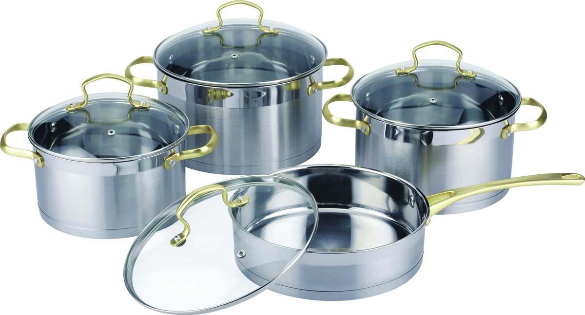 Набор посуды Bekker, цвет: серебристый, 8 предметов. BK-2587 набор посуды bekker classic bk 4604 8 предметов